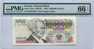 2.000.000 złotych 1993 seria B, PMG 66 EPQ