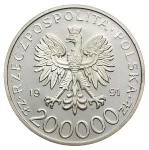 200.000 złotych 1991, gen. Leopold Okulicki NIEDŹWIADEK, PRÓBA NIKIEL