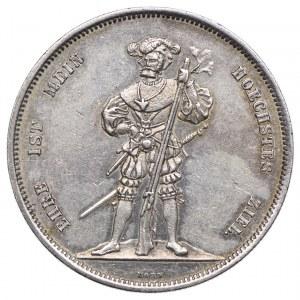 Szwajcaria, 5 franków 1857 Berno, talar strzelecki