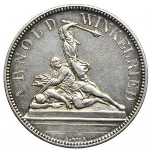 Szwajcaria, 5 franków 1861 Nidwalden, talar strzelecki