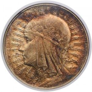 10 złotych 1932 Warszawa, Głowa Kobiety, NGC MS62