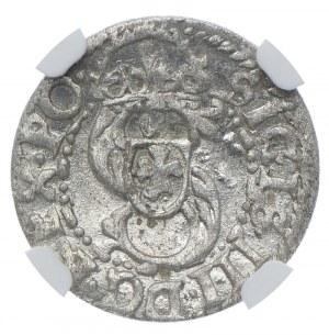Zygmunt III Waza, szeląg 1614 Ryga, NGC MS62