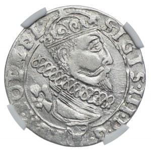 Zygmunt III Waza, szóstak 1626 Kraków, NGC XF45
