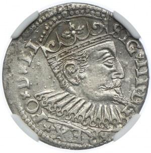 Zygmunt III Waza, trojak 1600 GE, Ryga, NGC AU55