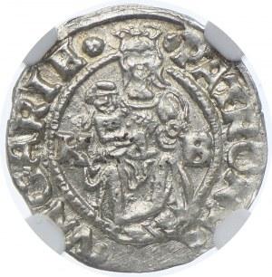 Węgry, denar 1543 KB, NGC MS64