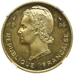 Francuska Afryka Zachodnia, 25 franków 1956 ESSAI, NGC MS65