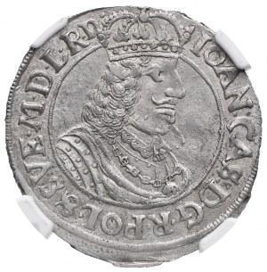 Ort, Jan II Kazimierz, 1662 HDL, Toruń, NGC AU58
