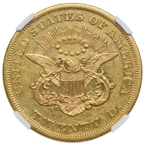 20 dolarów 1864, NGC AU DETAILS