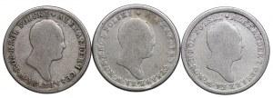 Królestwo Polskie, Aleksander I, zestaw 2 złote 1823, 1824, 1825 IB