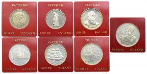 Zestaw, Próby 1980-87 Sowa, Pomnik Matki Polki, Kochanowski, Muzeum Śląskie, Dar Młodzieży, Olimpiada, Jan Paweł II (7szt.)