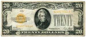 USA, 20 dolarów 1928 seria A, GOLD CERTIFICATE