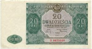 20 złotych 1946, seria D