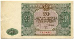 20 złotych 1946, seria F