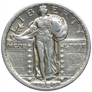 USA, 25 centów 1920