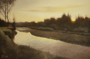 Konrad Hamada, Wschód słońca nad rzeką, 2019