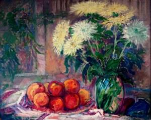 Jan Chwierut (1901-1973), Martwa natura z kwiatami i owocami