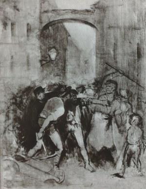 Maurycy Gottlieb (1856-1879), Scena z ulicy