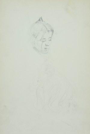Włodzimierz Tetmajer (1861 - 1923), Głowa dziewczyny - szkic, ok. 1900