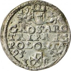 Zygmunt III Waza (1587–1632), trojak koronny, Poznań; 1595
