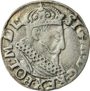 Zygmunt III Waza (1587–1632), trojak koronny, Kraków, 1621