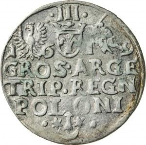 Zygmunt III Waza (1587–1632), trojak koronny, Kraków, 1619