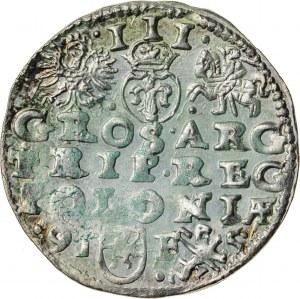 Zygmunt III Waza (1587–1632), trojak koronny, Lublin; 1595