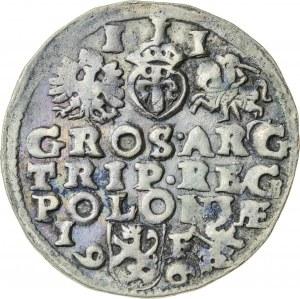 Zygmunt III Waza (1587–1632), trojak koronny, Lublin; 1596