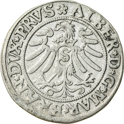 Prusy Książęce, Albrecht Hohenzollern (1525–1568), grosz pruski lenny, Królewiec; 1533