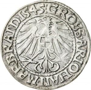 Śląsk, Księstwo krośnieńskie, Jan Kostrzyński (1535-1571), grosz, Krosno; 1545