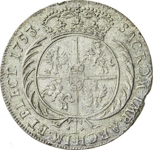 August III Sas (1733-1763), ort - tymf koronny, Lipsk; 1753
