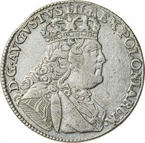 August III Sas (1733-1763), ort - tymf koronny, Lipsk; 1754