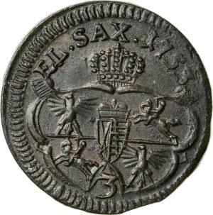 August III (1733–1763), grosz koronny, Gubin lub Grünthal; 1753