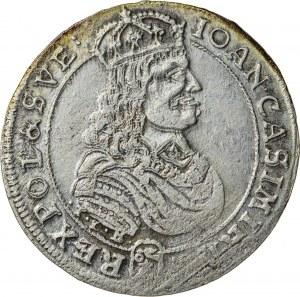 Jan Kazimierz (1649–1668), ort koronny, Bydgoszcz / Kraków; 1668