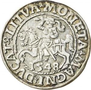 Zygmunt II August [1544 (1548) –1572], półgrosz litewski, Wilno; 1548