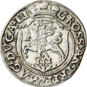 Zygmunt II August [1544 (1548) –1572], trojak litewski, Wilno; 1563
