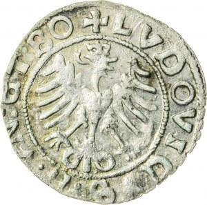 Śląsk, Ludwik II Jagiellończyk (1509-1526), półgrosz, Świdnica; 1522