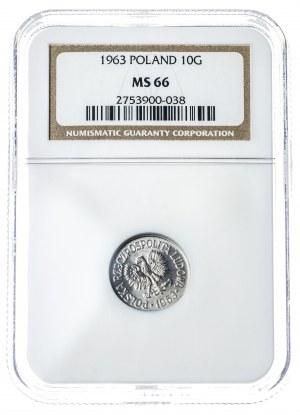 10 groszy 1966, MS 66