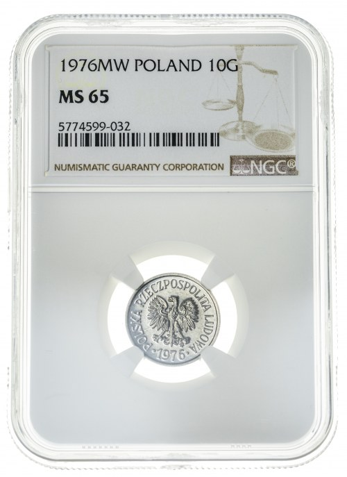 10 groszy 1976, MS 65