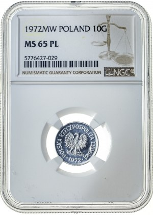10 groszy 1972, MS 65 PL