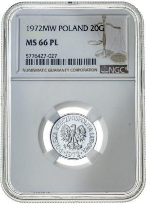 20 groszy 1972, MS 66 PL