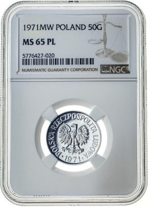 50 groszy 1971, MS 65 PL