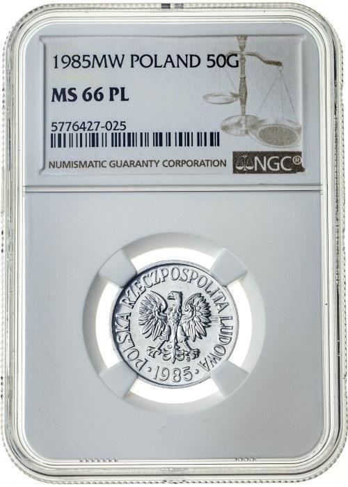 50 groszy 1985, MS 66 PL, MAX