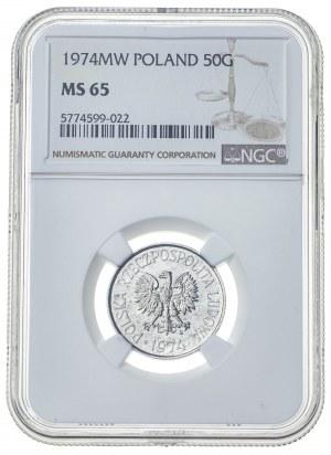 50 groszy 1974, MS 65