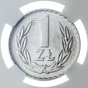 1 złoty 1957, MS 64