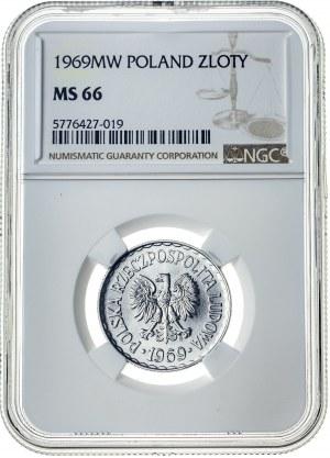 1 złoty 1969, MS 66