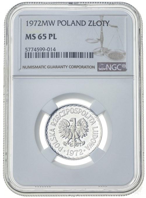 1 złoty 1972, MS 65, proof like
