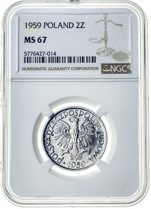2 złote 1959, MS 67