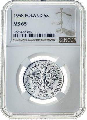 5 złotych 1958, MS 65