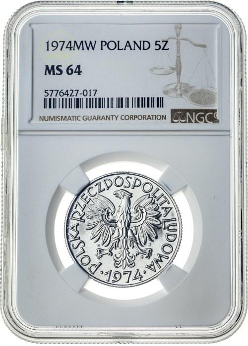 5 złotych 1974, MS 64