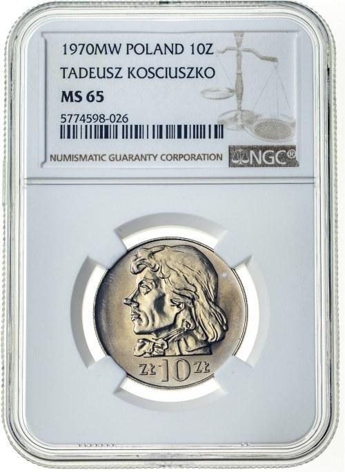 10 złotych 1970, MS 65, Tadeusz Kościuszko